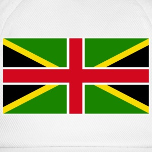 White Jamaica England Mixed Flag Tops - Baseball Cap