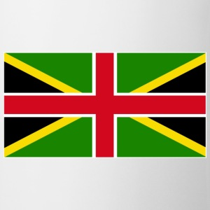 White Jamaica England Mixed Flag Tops - Mug