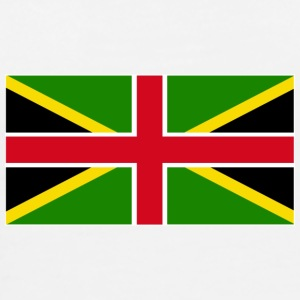 White Jamaica England Mixed Flag Tops - Men's Premium T-Shirt