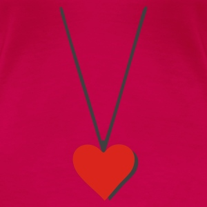 Heart Necklace - Women's Premium T-Shirt