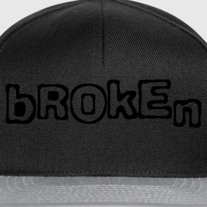 Black Broken Ladies' - Snapback Cap