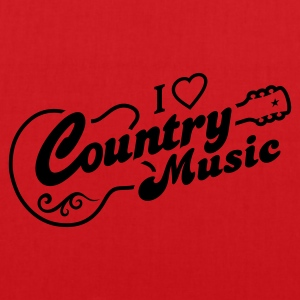 I LOVE COUNTRY MUSIC - Stoffbeutel