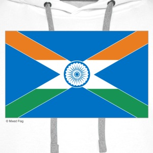 White India Scotland Mixed Flag Tops - Men's Premium Hoodie