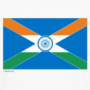 White India Scotland Mixed Flag Tops - Men's Premium Longsleeve Shirt