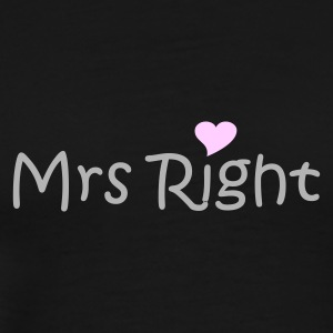 Black Mrs Right Ladies' - Men's Premium T-Shirt