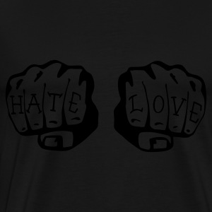 FIST OF LOVE AND HATE by VAN TRIBE  - Männer Premium T-Shirt