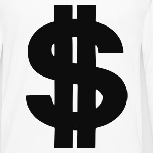 White Dollar T-Shirts - Men's Premium Longsleeve Shirt