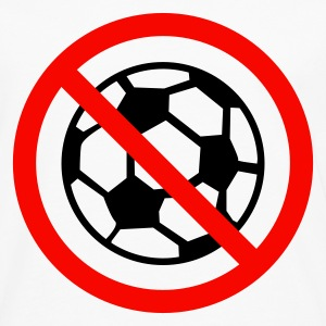 Wit anti football soccer Dames t-shirts - Mannen Premium shirt met lange mouwen