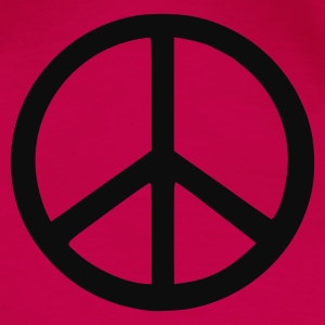 Pink peace sign Ladies' - Women's Premium T-Shirt