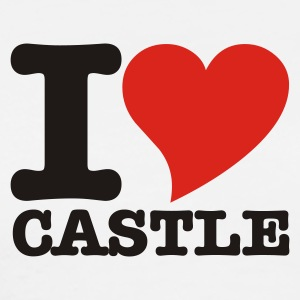 White I Love Castle Tops - Men's Premium T-Shirt