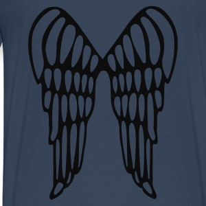 Aqua Angel Wings Flying Ladies' - Men's Premium T-Shirt