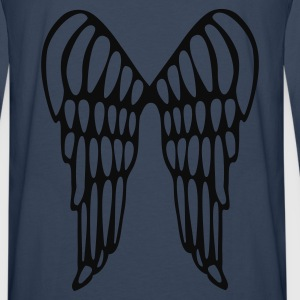 Turkis Angel Wings Flying Damer - Herre premium T-shirt med lange ærmer