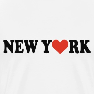 Blanco New York Tops - Camiseta premium hombre