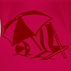 Pink Sunchair - Sun - Summer - Beach Ladies' - Women's Premium T-Shirt