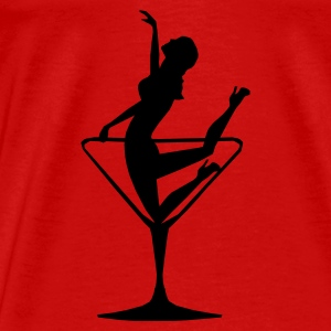 Lady in a Cocktail Glass - Kneeling - Men's Premium T-Shirt