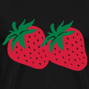 Black Strawberry Tops - Men's Premium T-Shirt