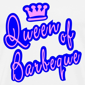 Weiß Queen of Barbeque (1)_2farb Tops - Männer Premium T-Shirt