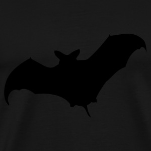 Black bat, halloween, a nightmare, cemetery, night, Vampire Tops - Men's Premium T-Shirt