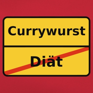 Orange Currywurst T-Shirts (Kurzarm) - Retro Tasche