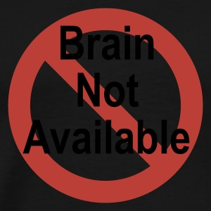 Oliv brain not available T-Shirts (Kurzarm) - Männer Premium T-Shirt