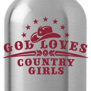 Orange ::GOD LOVES COUNTRY GIRLS:: T-Shirts (Kurzarm) - Trinkflasche