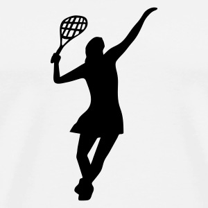 Female Tennis Player - Men's Premium T-Shirt