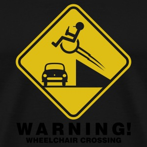 Schwarz ::WHEELCHAIR CROSSING:: T-Shirts - Männer Premium T-Shirt