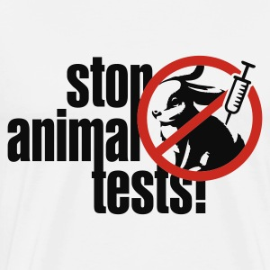 Weiß ::STOP ANIMAL TESTS:: Tops - Männer Premium T-Shirt