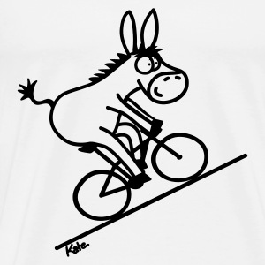 Bicycle donkey, white top - Men's Premium T-Shirt