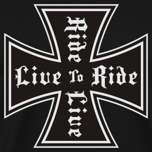Black live to ride Muskelshirt - Mannen Premium T-shirt