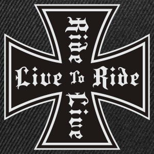 Black live to ride Muskelshirt - Snapback-caps