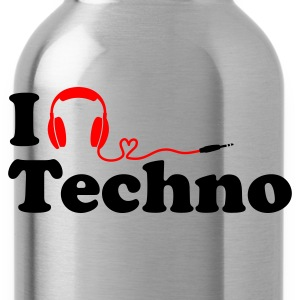 (Top) I Listen to (Love) Techno - Trinkflasche