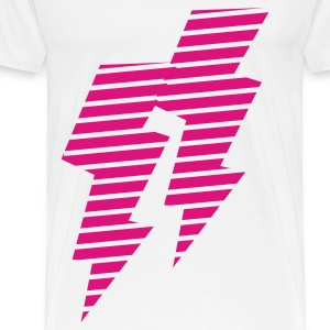 Weiß blitz - flash - power - electro Tops - Männer Premium T-Shirt