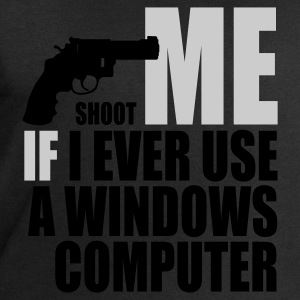 Shoot me if I ever use a Windows computer - Herresweatshirt fra Stanley og Stella