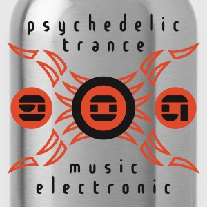 Orange goa psychedelic trance v1 (© alteerian) T-Shirts - Trinkflasche