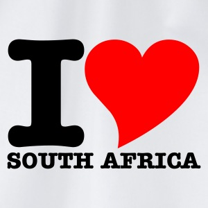 White I Love South africa Tops - Drawstring Bag