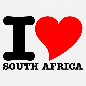 White I Love South africa Tops - Cooking Apron