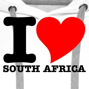 White I Love South africa Tops - Men's Premium Hoodie