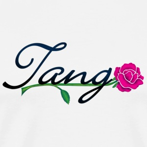 Weiß tango with rose (DDP) Tops - Männer Premium T-Shirt