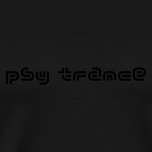 Black Psy Trance Tops - Men's Premium T-Shirt
