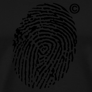 Black © Fingerprint Men's Tees - Men's Premium T-Shirt