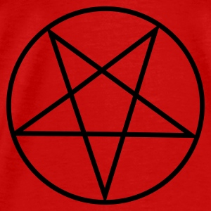 Red Inverted Pentagram / Pentacle Tops - Men's Premium T-Shirt