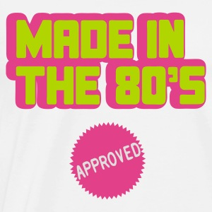 Wit Made In The 80's Tops - Mannen Premium T-shirt