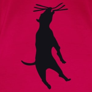 Pink dog hanging (1c) Tops - Frauen Premium T-Shirt