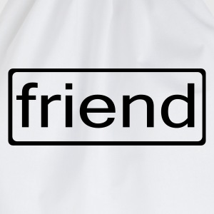 White friend Men's Tees - Drawstring Bag