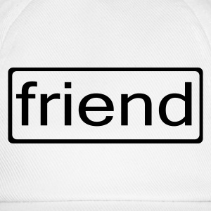 White friend Men's Tees - Baseball Cap