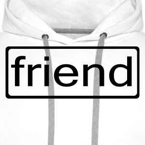 White friend Men's Tees - Men's Premium Hoodie