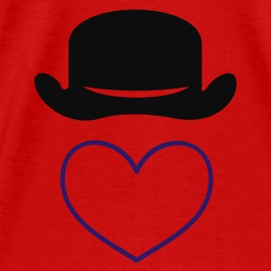 Red bowler hat (1c) Tops - Men's Premium T-Shirt