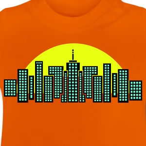 Orange City Skyline Manhattan Kid's Shirts  - Baby T-Shirt