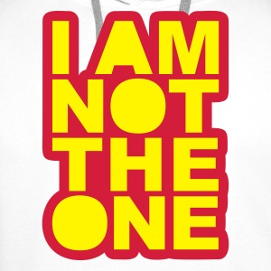 White I Am Not The One Tops - Men's Premium Hoodie